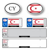 Turkish republic of northern cyprus auto set — Vector de stock