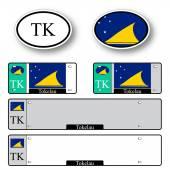 Tokelau auto set — Stock Vector
