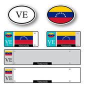 Venezuela auto set — Stock Vector