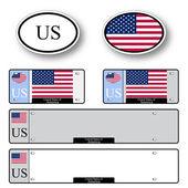 United states of america auto set — Stock Vector