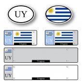 Uruguay auto set — Stock Vector