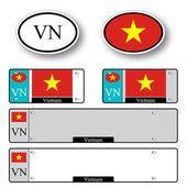 Vietnam auto set — Stock Vector