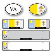 Vatican city auto set — Stock Vector