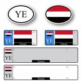 Yemen auto set — Stock Vector