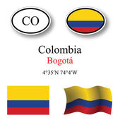 Colombia icons set — Stock Photo