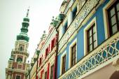 The main market square in the old town of Zamosc, Poland — Foto de Stock