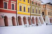 Stora torget i den gamla staden Zamosc, Polen — Stockfoto