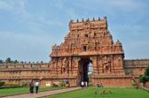 Brihadeeswara 的二寺入口处,坦贾武尔 — 图库照片