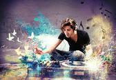 DJ playing music — Stock Photo