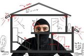 Thief apartment — Stock Photo