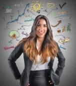 Creative businesswoman — Stock Photo