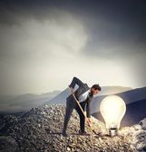 Businessman discovers an idea — Stock Photo
