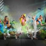 Modern dancer team — Stock Photo #54440807