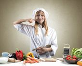 Tasty dish of a chef — Stock Photo