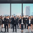 Business team working in skyscraper — Stock Photo #59582655