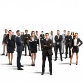 Partnership and teamwork with businesspeople — Stock Photo