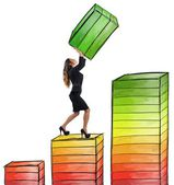 Businesswoman works hard — Stock Photo