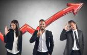 Businesspersons satisfied and happy — Stock Photo