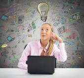 Businesswoman have great ideas — Stock Photo