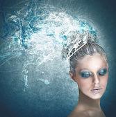 Mulher com maquiagem — Fotografia Stock
