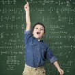 Child solves mathematical calculation — Foto Stock #64146255