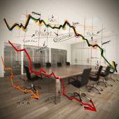 Decrease in profits in company — Stock Photo