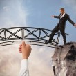 Businessman overcome an obstacle — Stock Photo #65416543