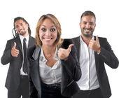 Entrepreneurs optimistic smile — Stock Photo