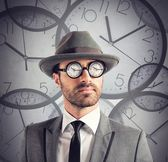 Businessman always on time — Stock Photo