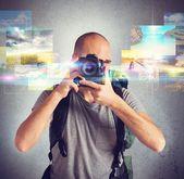 Fotograf tar bilder — Stockfoto