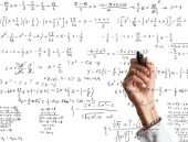 Woman explains mathematical calculation — Stock Photo
