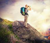 Explorer in search of new lands — Stock Photo