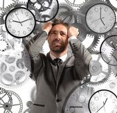 Businessman with little time — Stock Photo