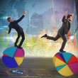 Business people as acrobats — Stock Photo #72643873