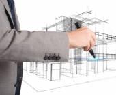 Architect organizes new residential areas — Stock Photo