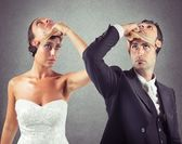 False marriage between two people — Stock Photo