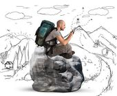 Explorer browse the network — Stock Photo