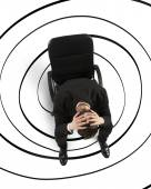 Businessman with mess in the head — Stock Photo