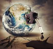 Damage fuel and pollution of the world — Stock Photo