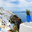 The view on Fira town and Aegean sea, Santorini island, Greece — Stock Photo #52238897