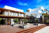 Recreation area at luxury hotel, Crete, Greece — Stock Photo