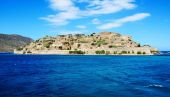 The fortress on Spinalonga Island, Crete, Greece — Stock Photo