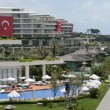 The swimming pool near beach at the luxury hotel, Antalya, Turkey — Stock Video #54623453