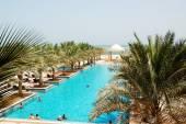 RAS AL KHAIMAH, UAE - JUNE 9: The tourists enjoying their vacati — Stock Photo