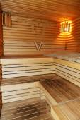 Novi Petrivtsi, Oekraïne - 14 oktober: De sauna interieur in Mezh — Stockfoto