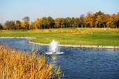 NOVI PETRIVTSI, UKRAINE - OCTOBER 14: Golf course in Mezhigirya  — Stock Photo
