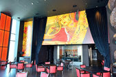 The restaurants interior of JW Marriott Marquis Dubai hotel — Stockfoto