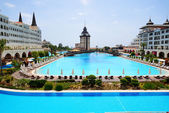 ANTALYA, TURKEY - APRIL 23: The Mardan Palace luxury hotel is co — Stock Photo