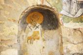 The painting on wall in church of St. Nicholas at Myra, Turkey — Stock Photo