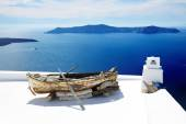 FIRA, GREECE - MAY 17: The view on building decoration in Fira t — Stock Photo
